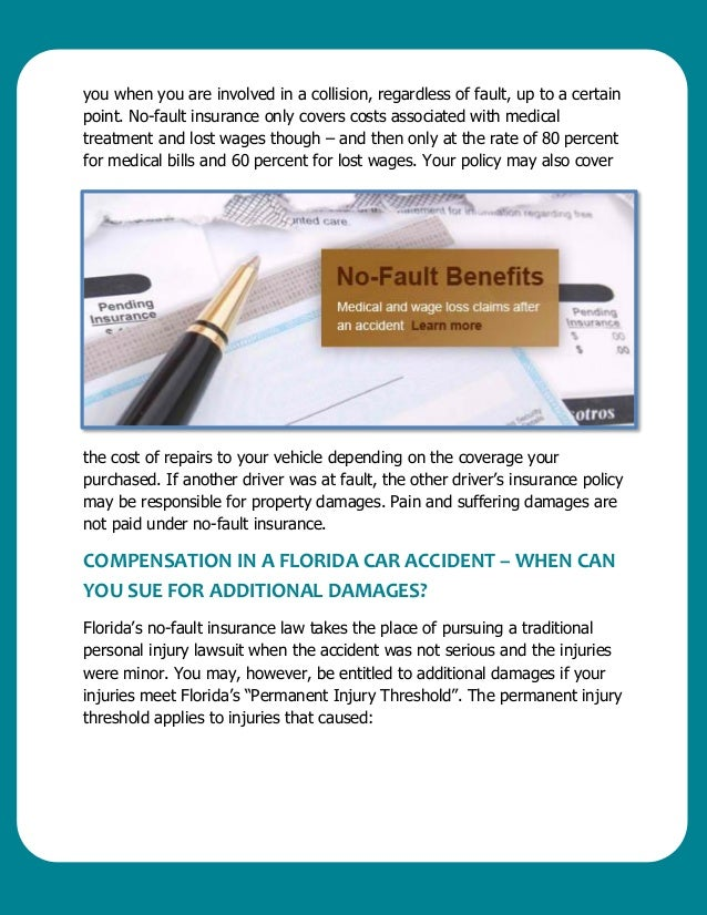 Florida auto accidents what you need to know for Florida motor vehicle no fault law