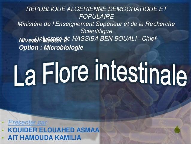 S • Présenter par: • KOUIDER ELOUAHED ASMAA • AIT HAMOUDA KAMILIA REPUBLIQUE ALGERIENNE DEMOCRATIQUE ET POPULAIRE Ministèr...
