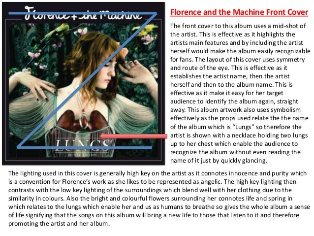 The front cover to this album uses a mid-shot of the artist. This is effective as it highlights the artists main features ...