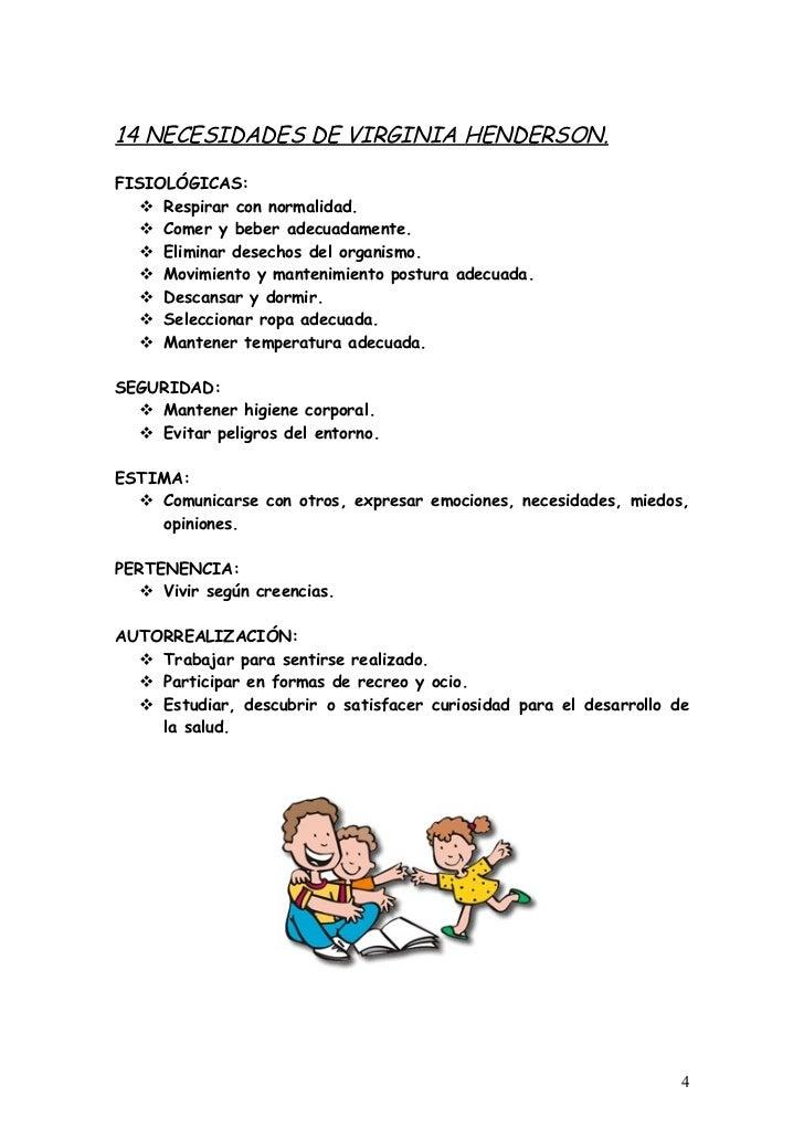 catorce necesidades de virginia henderson pdf