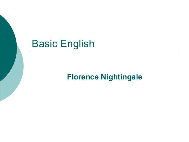 Basic English Florence Nightingale