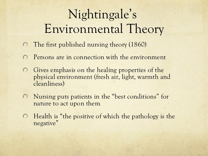 Nightingale S Environmental Theory And Nature