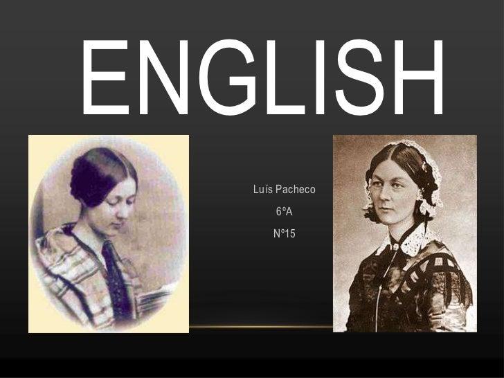 ENGLISH   Luís Pacheco       6ºA      Nº15