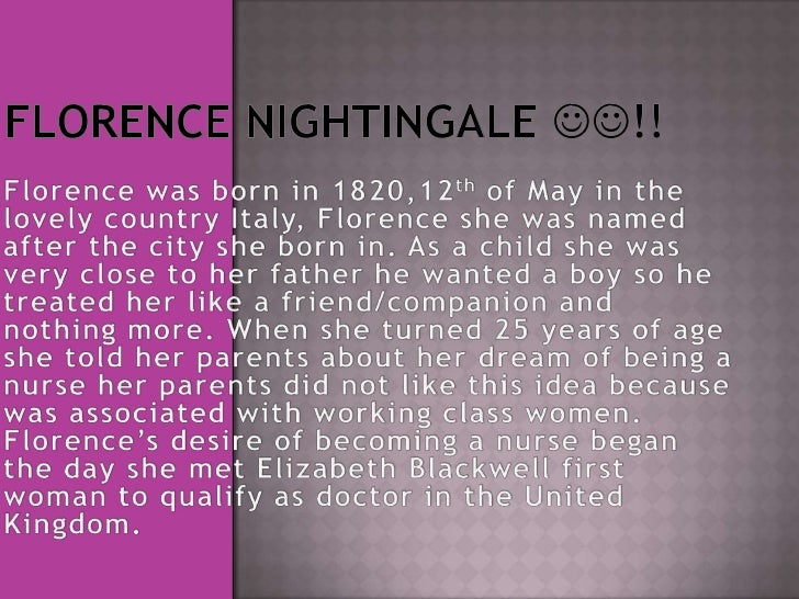 Florence's father finally gave herpermission to train as a nurse in1851. At the age of 31 she went toGermany to study to b...