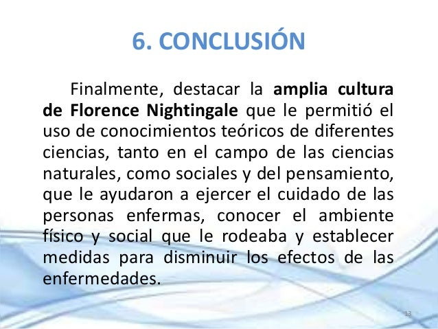 florence nightingale conclusion