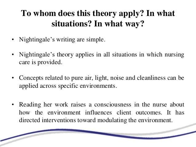 florence nightingale environmental theory ppt
