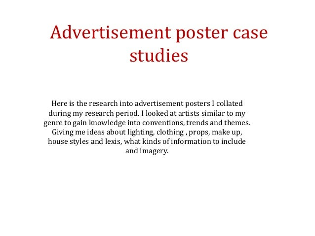 Research case studies - Advertisement posters