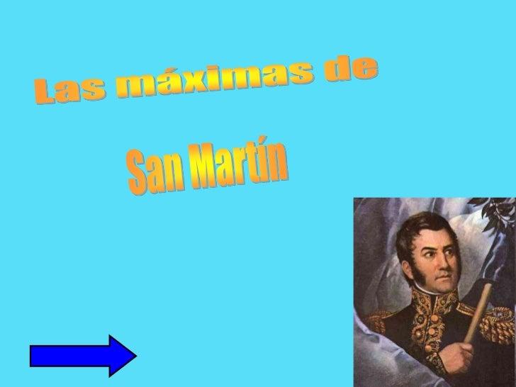 Las máximas de <br />San Martín<br />