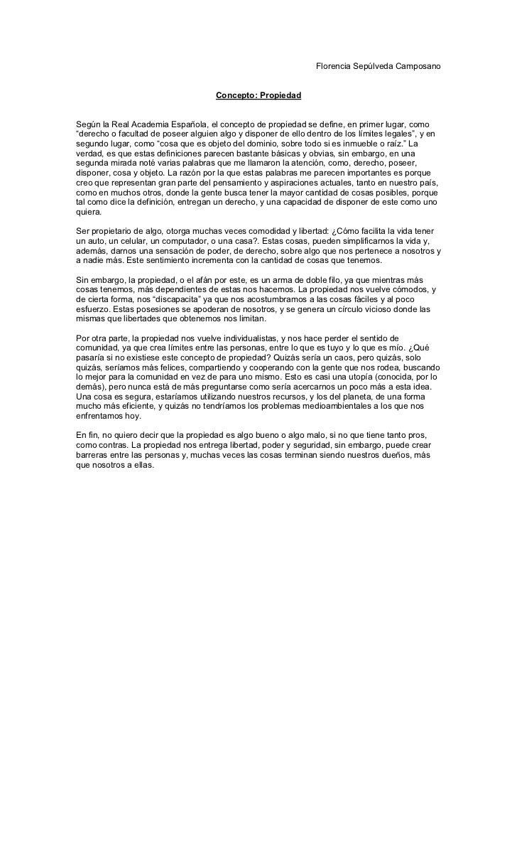 Florencia Sepúlveda Camposano                                     Concepto: PropiedadSegún la Real Academia Española, el c...