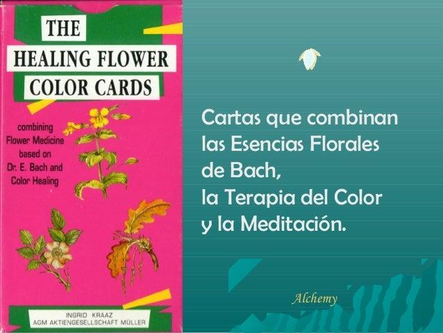 Cartas que combinan las Esencias Florales de Bach, la Terapia del Color y la Meditación. Alchemy