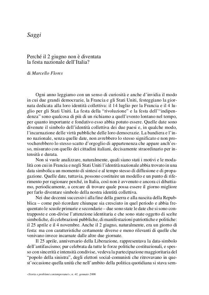 03Flores   8-05-2006       13:59      Pagina 31             Saggi             Perché il 2 giugno non è diventata          ...