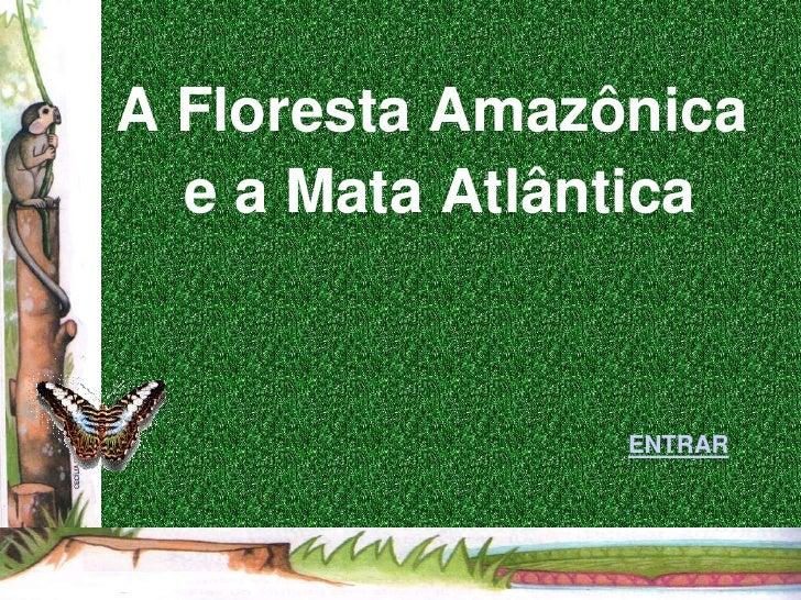 A Floresta Amazônica  e a Mata Atlântica                ENTRAR