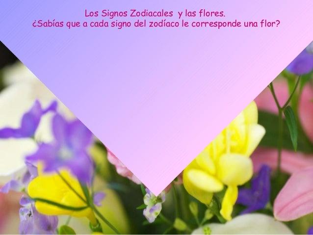 Los Signos Zodiacales y las flores.¿Sabías que a cada signo del zodíaco le corresponde una flor?