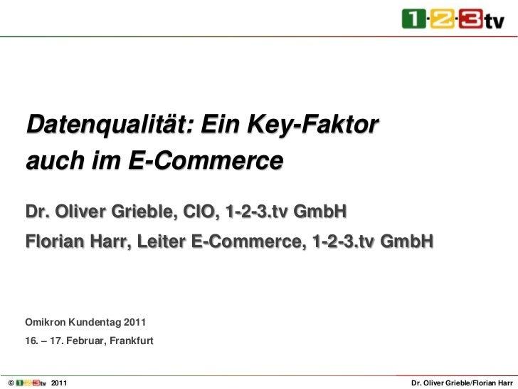Florian Harr Datenqualitaet Key-Faktor im eCommerce
