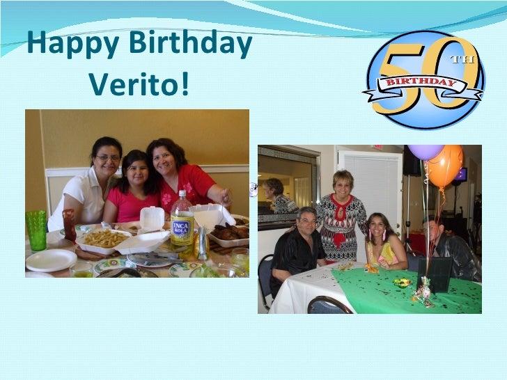Happy Birthday Verito!