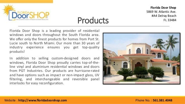Florida Door Shop Window Manufacturers Florida