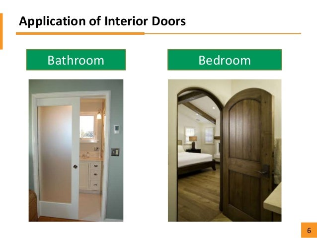 Application of Interior Doors Bathroom Bedroom 6 ...  sc 1 st  SlideShare & Florida lumber functions and applications of different types of doors