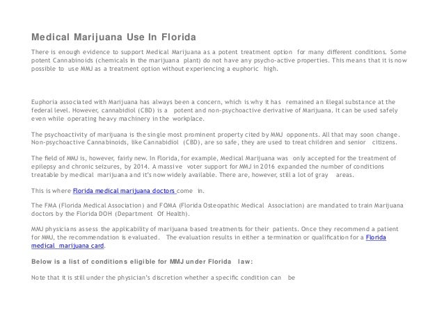 Federal Support For Potent New >> Florida Medical Marijuana Doctors Providing Mmj Cards To Patients Wit