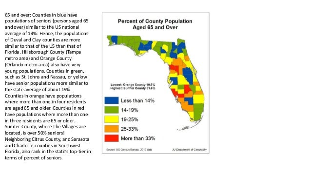 Florida Population Map.Florida Population Quiz By Ju Geography Department
