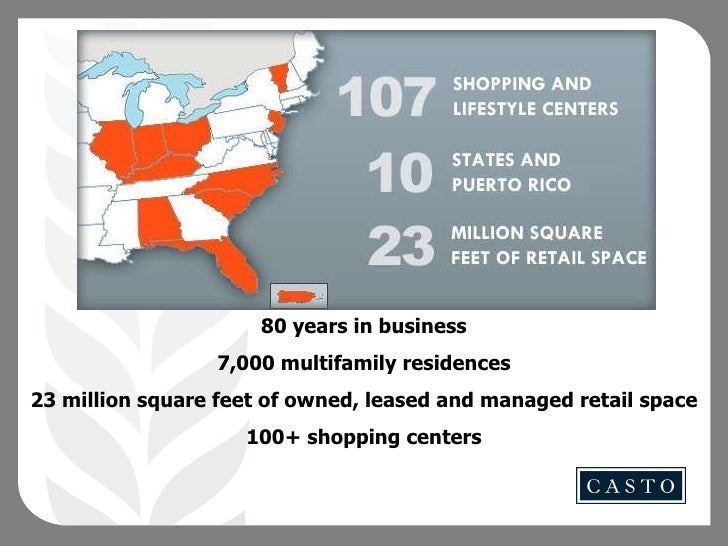80 years in business 7,000 multifamily residences 23 million square feet of owned, leased and managed retail space 100+ sh...
