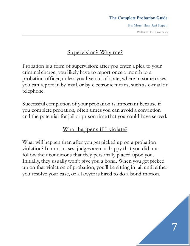 The plete Probation Guide