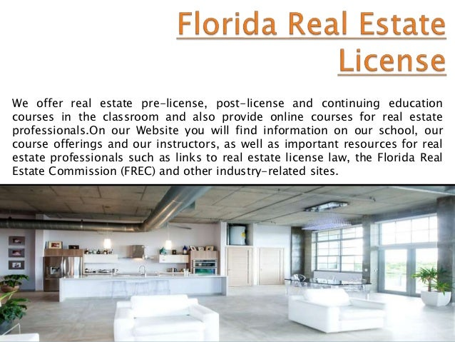 florida real estate licensing