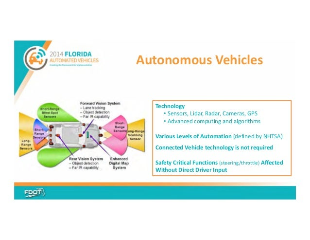 Florida's Automated Vehicle Initiative presentation, October