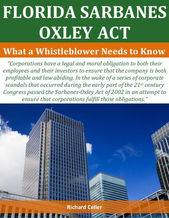 Sarbanes oxley act law 421