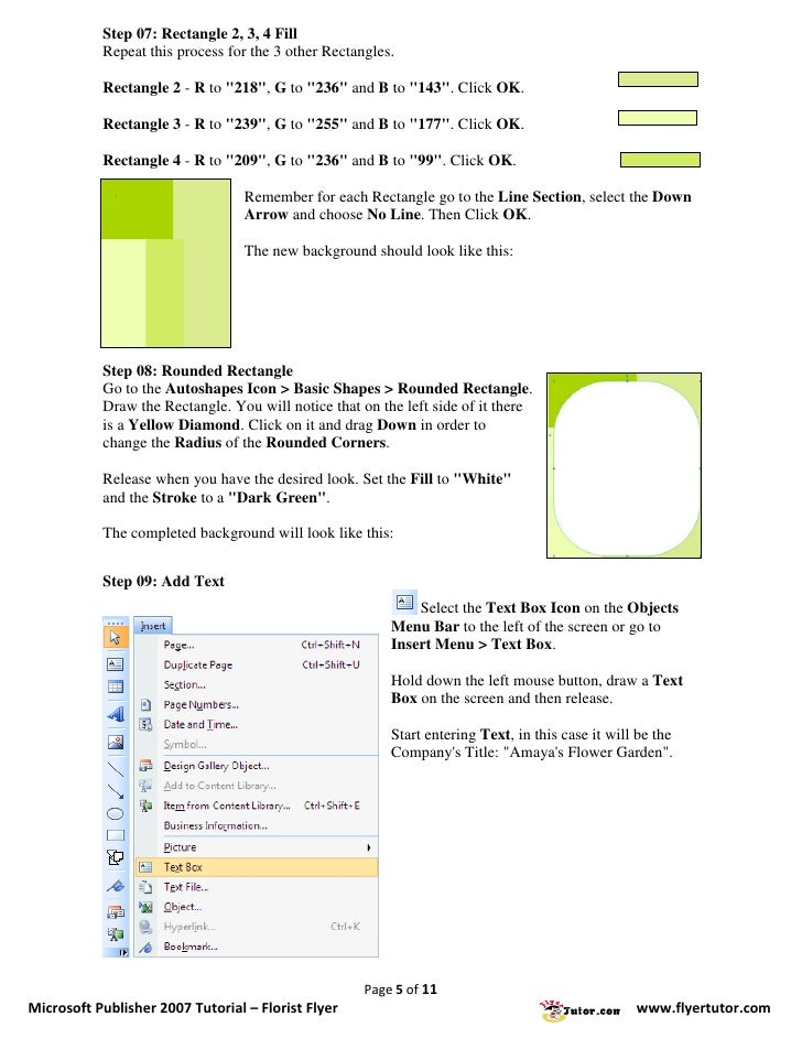 ms publisher 2007 tutorial pdf