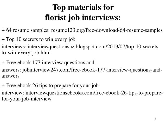 florist resume sample pdf ebook