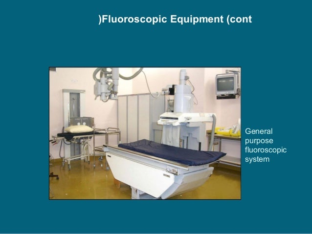 the fluoroscopy