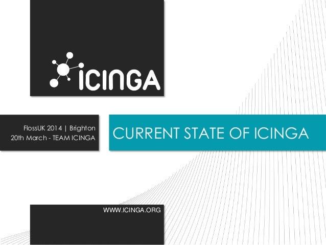 WWW.ICINGA.ORG CURRENT STATE OF ICINGA FlossUK 2014 | Brighton 20th March - TEAM ICINGA