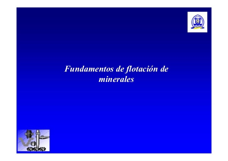 Fundamentos de flotación de       minerales