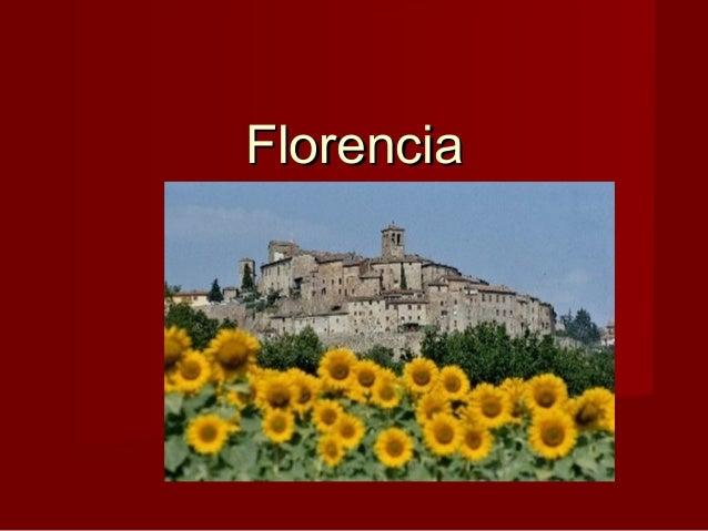 FlorenciaFlorencia