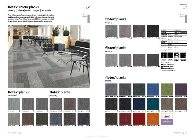 267Flocked Flooring266 Flocked Flooring Flotex Colour planks offer a wide variety of texture and colour in 100cm x 25cm pl...