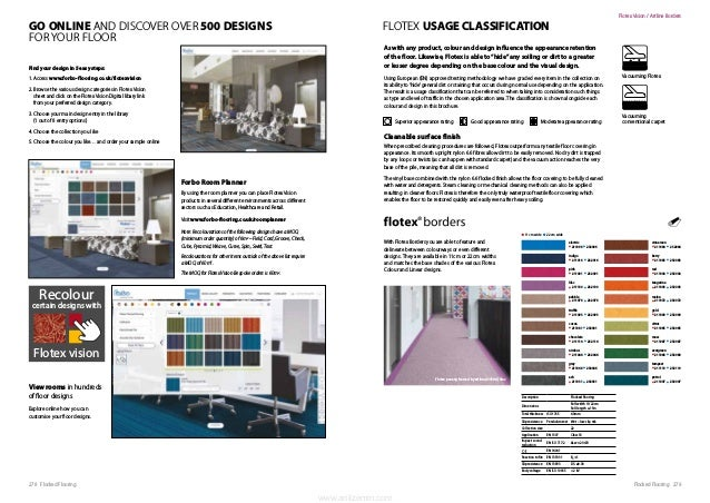 279Flocked Flooring278 Flocked Flooring GO ONLINE AND DISCOVER OVER 500 DESIGNS FOR YOUR FLOOR Find your design in 5 easy ...
