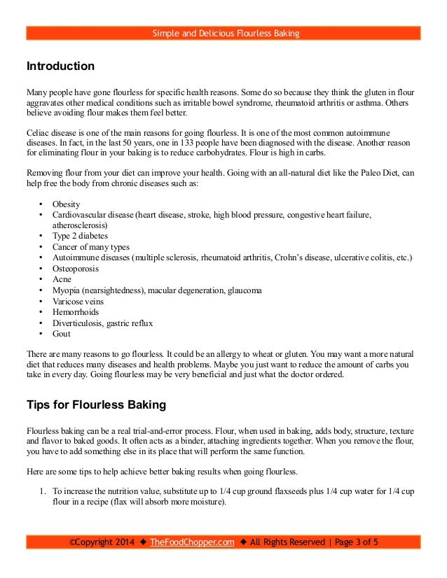 Flourless Baking Ideas, Tips And Recipes Slide 3