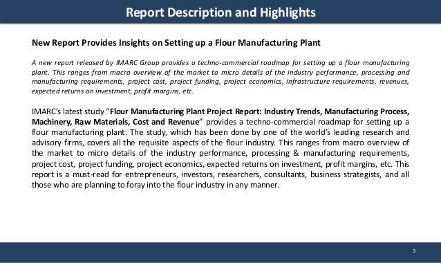 Flour Manufacturing Plant Project Report