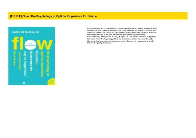 Flow The Psychology Of Optimal Experience Audiobook Free Download