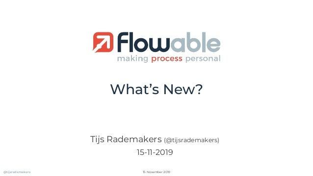 What's New? Tijs Rademakers (@tijsrademakers) 15-11-2019 @tijsrademakers 15 November 2019