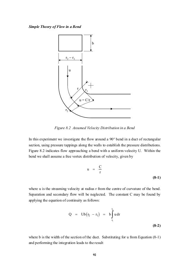 Flow around a bent duct    theory