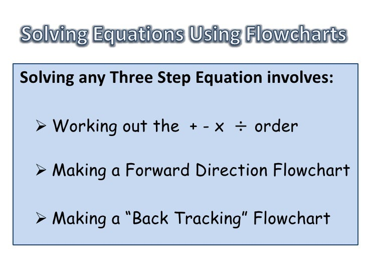 Three Step Equations