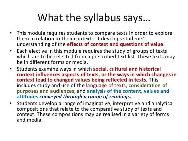 module a comparative study of texts Knox grammar school, karen yager module a: comparative study of texts & contexts elective 2 intertextual perspectives - 1984 & metropolis.