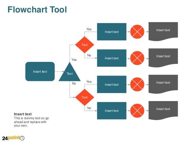 Process flowchart tool powerpoint slides flowchart tool start insert text no ccuart Images