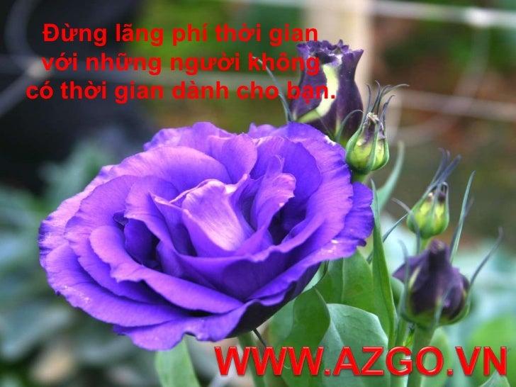 Đừng lãng phí thời gian với những người không có thời gian dành cho bạn.<br />WWW.AZGO.VN<br />