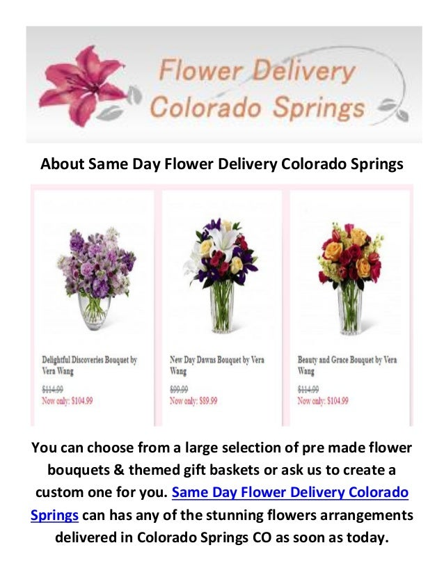Flower Delivery In Colorado Springs Co 719 602 6128