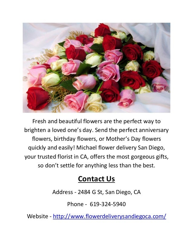 Flower Delivery San Diego CA Call 619 324 5940