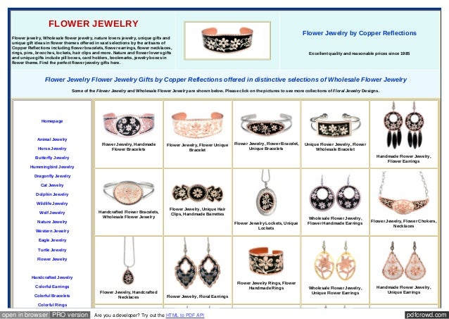 pdfcrowd.comopen in browser PRO version Are you a developer? Try out the HTML to PDF API FLOWER JEWELRY Flower jewelry, Wh...