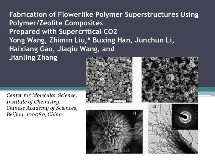 Fabrication of Flowerlike Polymer Superstructures Using Polymer/Zeolite Composites Prepared with Supercritical CO2 Yong Wa...