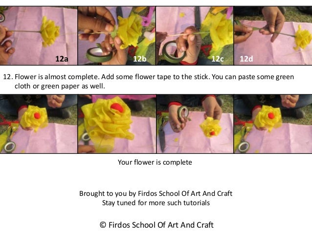 Flower making tutorial by firdos school of art and craft mightylinksfo